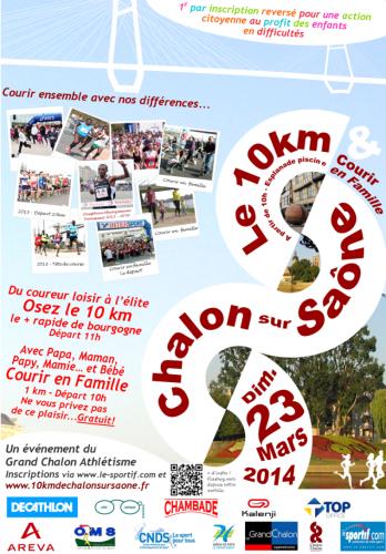 Flyer 10 km de Chalon sur Saone 2014.png